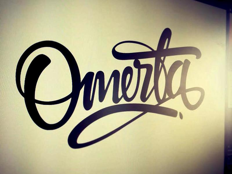 Omerta | Tattoo Art | Tattoo fonts, Letter logo, Lettering