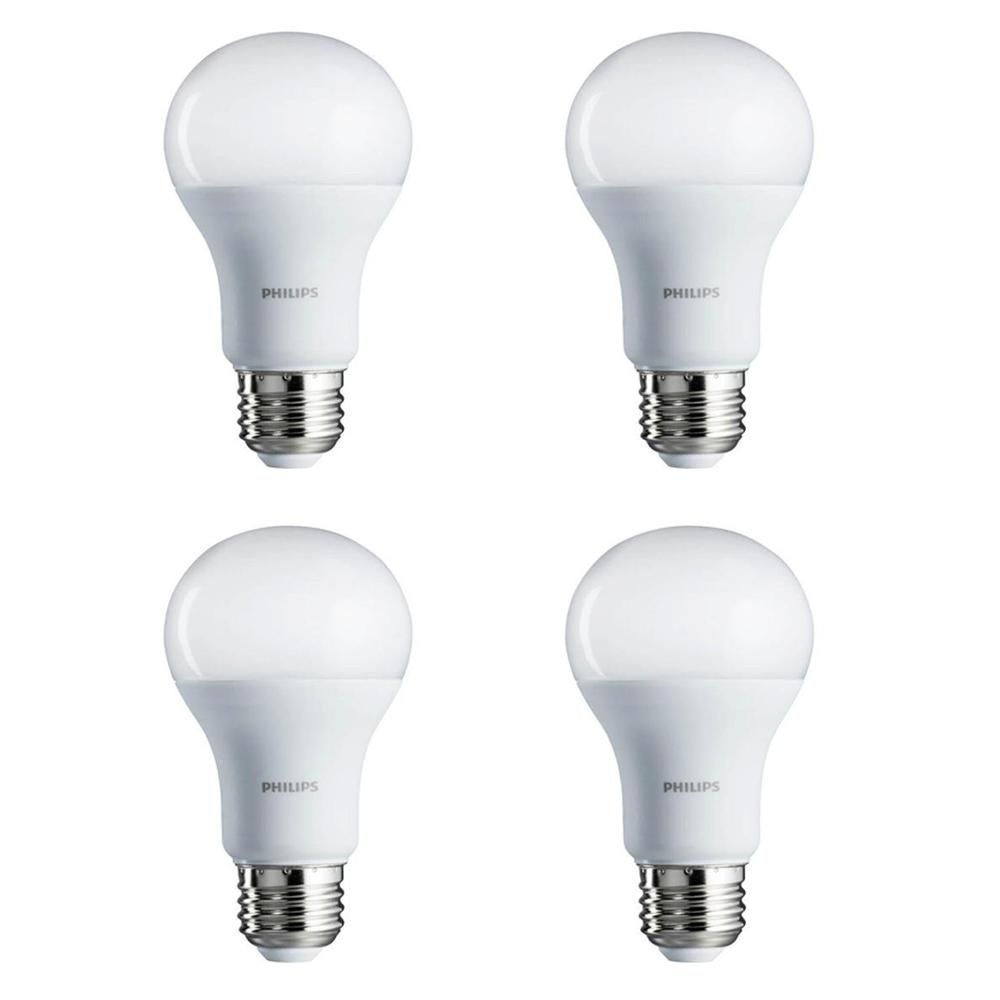 Philips 60 Watt Equivalent A19 Non Dimmable Energy Saving Led Light Bulb Daylight 5000k Light Bulb Dimmable Led Lights Incandescent Light Bulb