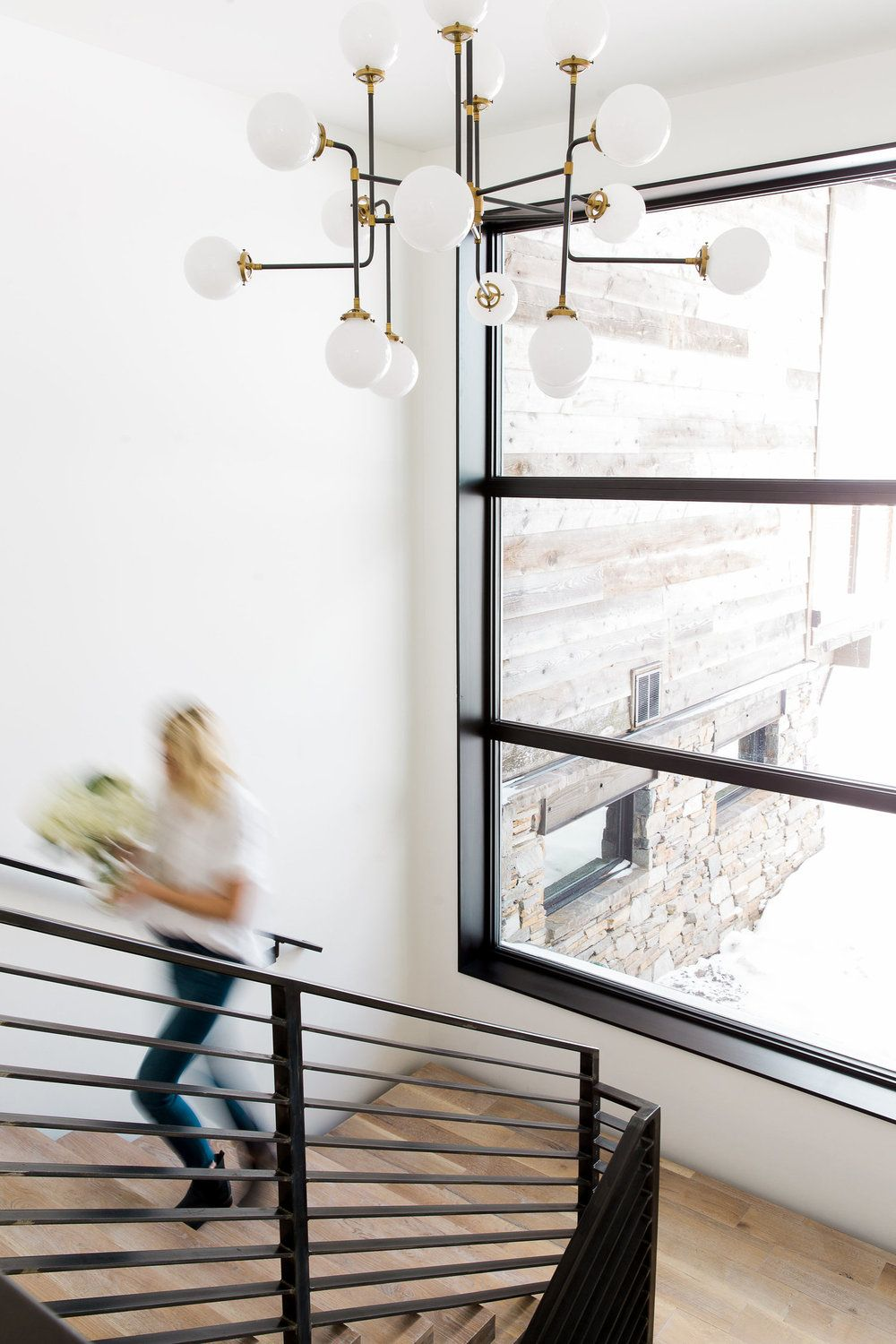 Modern Mountain Home | Studio mcgee, Staircases and Chandeliers