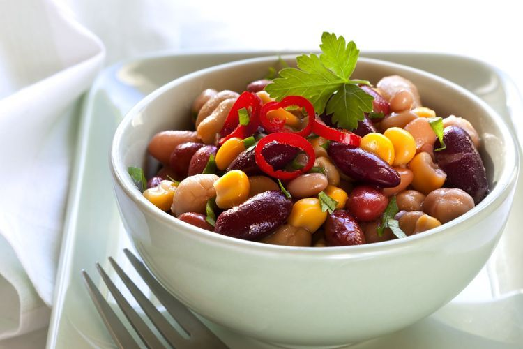 Heart Healthy Three Bean Salad Recipe Bean Salad Bean Salad Recipes Three Bean Salad