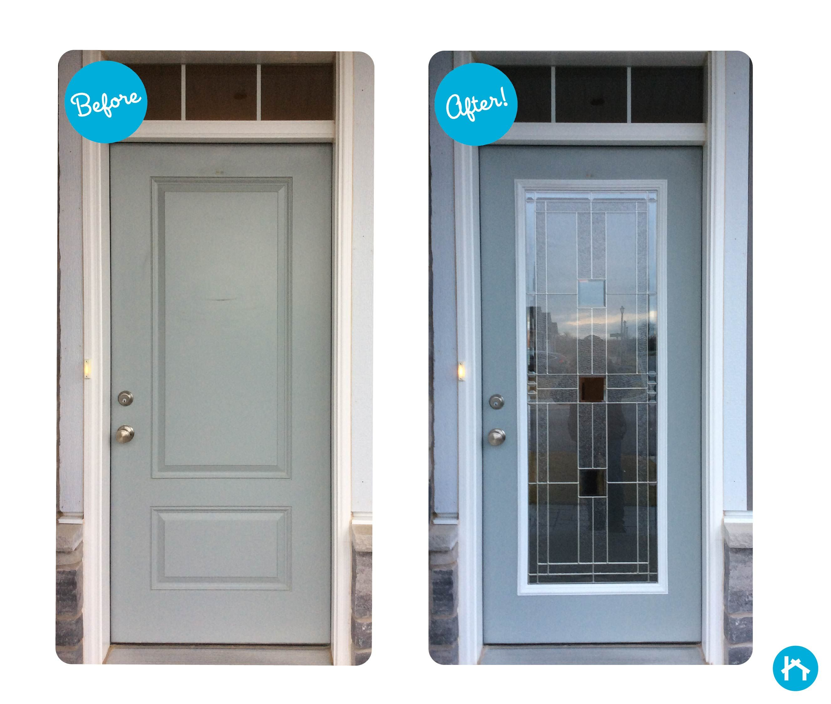 Update Your Door In Less Than An Hour With Decorative Door Glass