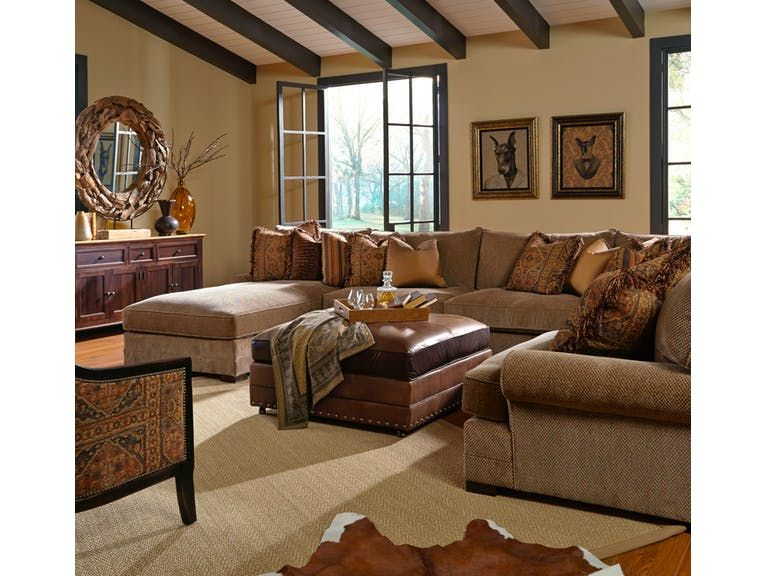 King Hickory Casbah Fabric Sectional 1100-SECT Home decor ideas