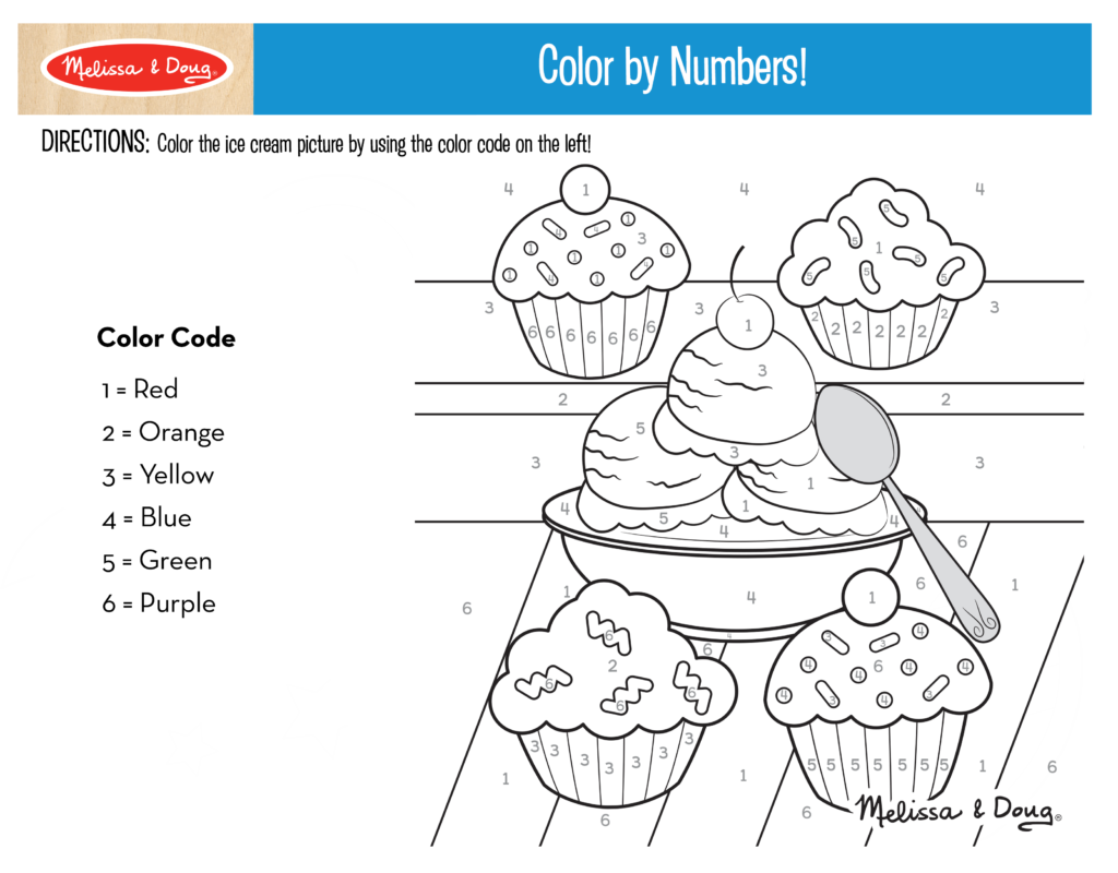 Color by Numbers Printable + 3 more printables for kids! # ...