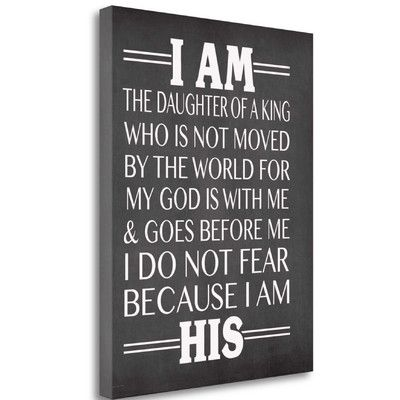 Tangletown Fine Art 'I am His Daughter' by Jo Moulton Textual Art on Wrapped Canvas