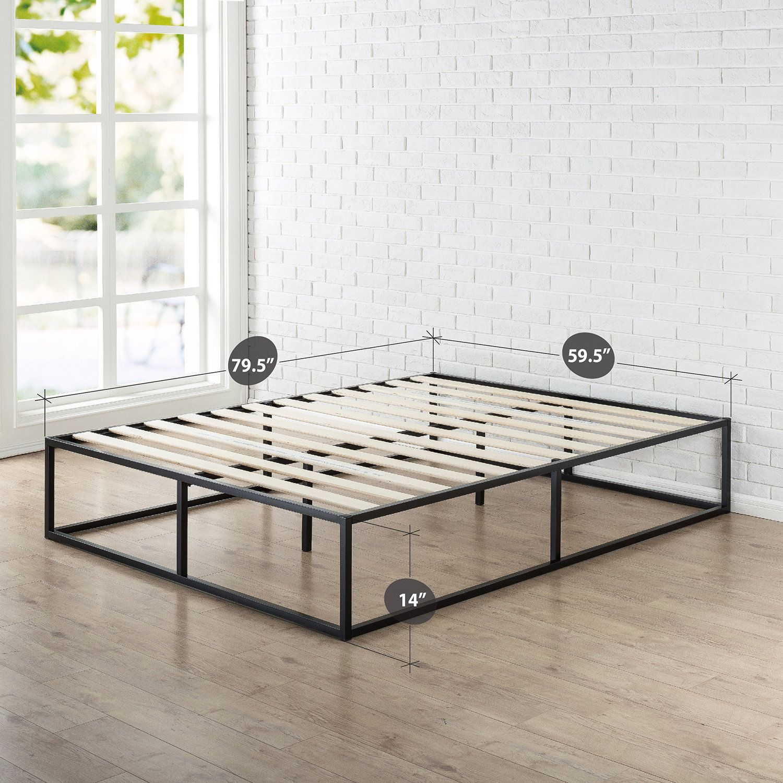 Bed Frame Platform Bed Frame Furniture Tall Bed Frame