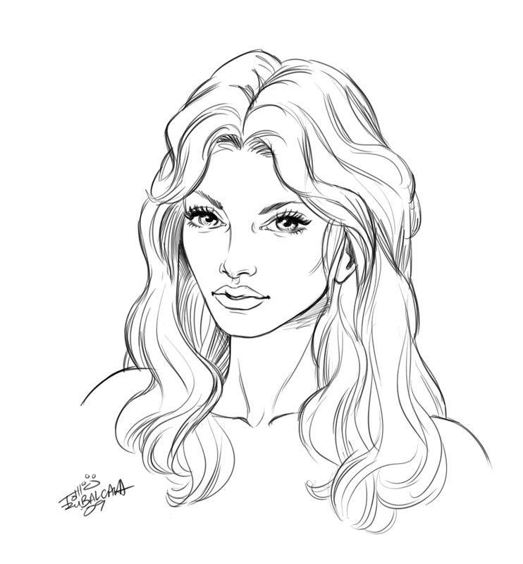 Beautiful Face Line Drawing : Pin tillagd av life is på people drawings pinterest