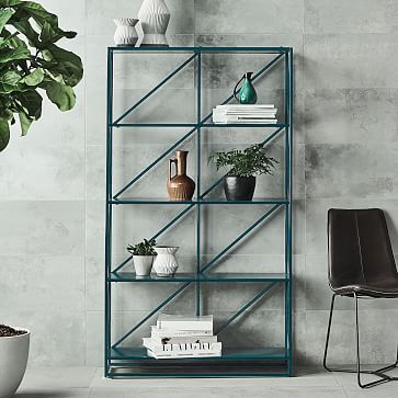 Pop Bookshelf Westelm Kinda Too Modern Geometrica Also Not Sure About The Dark Gray