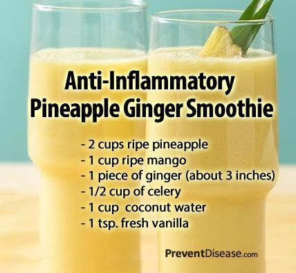 Anti-Inflammatory Pineapple Ginger Smoothie The health benefits of pineapple