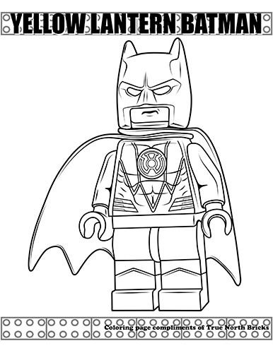 Coloring Page Yellow Lantern Batman True North Bricks Batman Coloring Pages Lego Coloring Pages Superman Coloring Pages