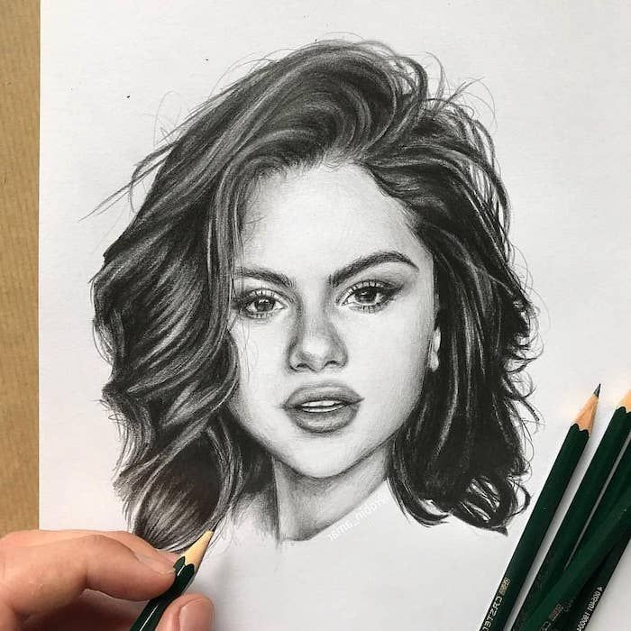 10 Wonderful Tips And Techniques For Realistic Colored Pencil Artists Ideas Selena Gomez Drawing Portrait Drawing Celebrity Drawings