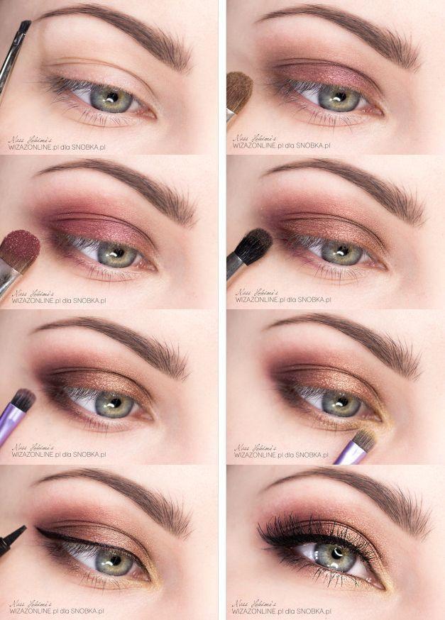 Photo of Soft Sunset Eyes Makeup Tutorial #eyemakeuptutorial #gorgeousmakeupforbrowneyes …