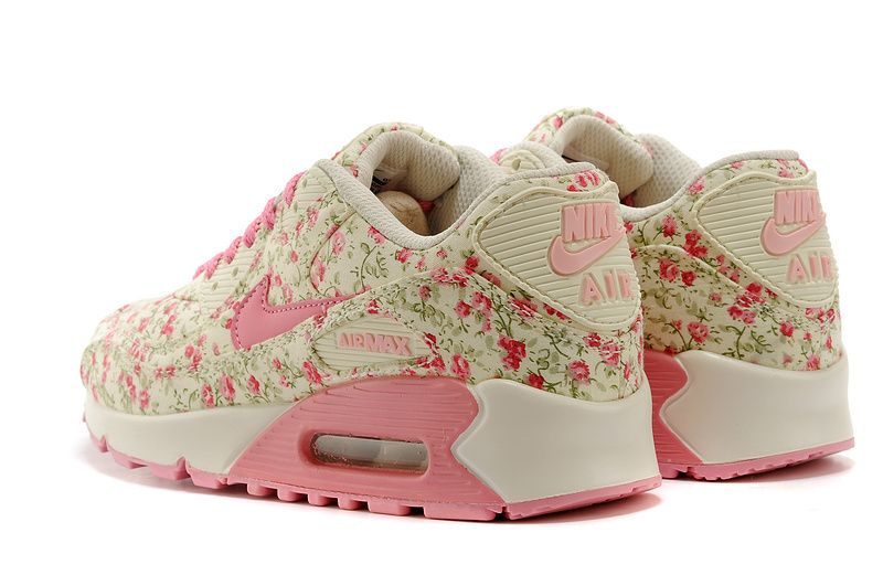 sale Nike Air Max 90 Womens Running Shoes Pink White