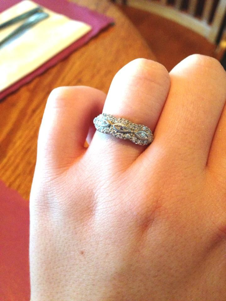 Vintage diamond engagement ring... a beautiful family heirloom :)