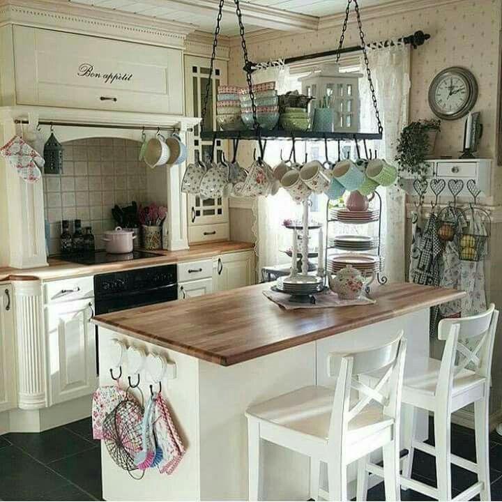 modernshabbychickitchen Shabby chic kitchen Pinterest - küche landhaus modern