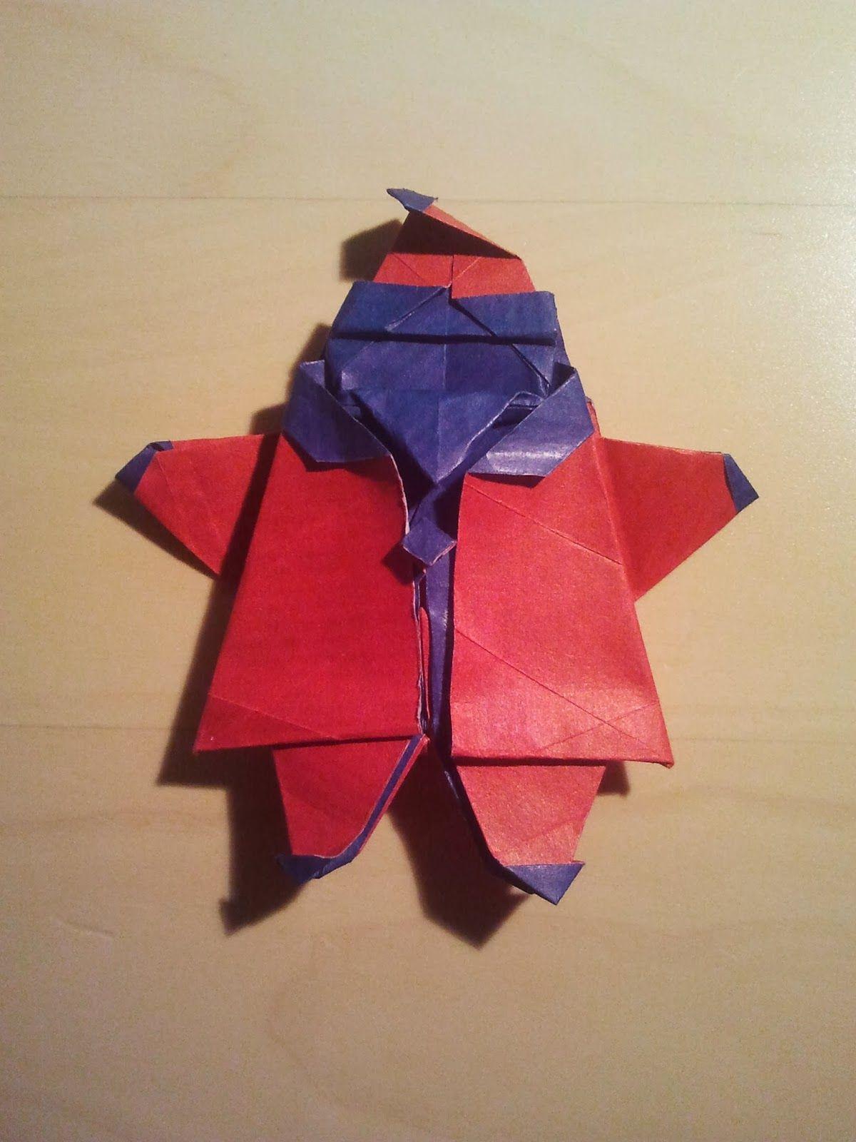 Papa Noel De Origami Origami Santa Claus My Origami Pinterest - Origami-papa-noel