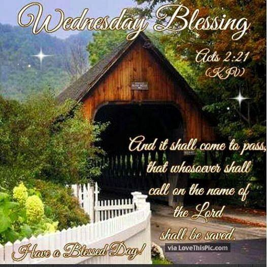Wednesday Blessings Religious Bible Quote Good Morning