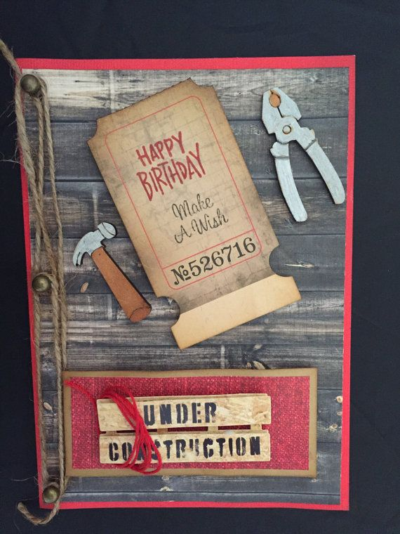 Superb Masculine Birthday Card Handyman Card Handmade Card Personalised Birthday Cards Sponlily Jamesorg