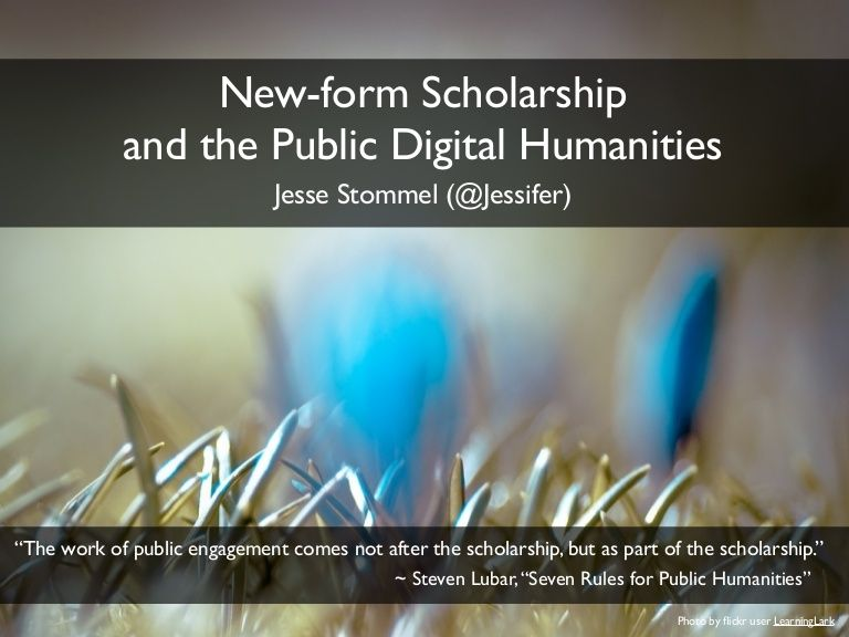 New-form scholarship reconsiders citation and peer-review, while - scholarship form