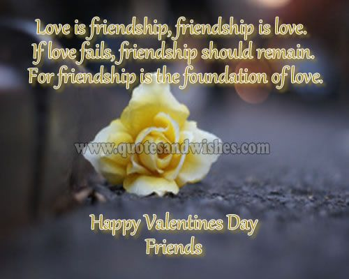 Valentine S Day For A Guy Friend Love Is Friendship Friendship Is