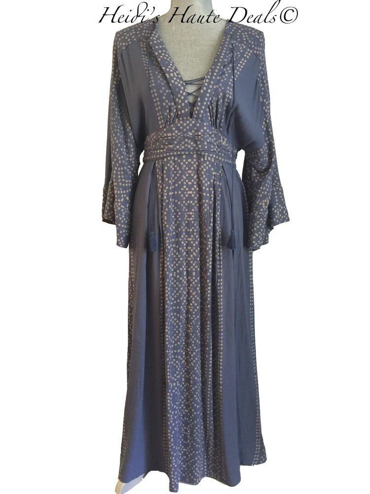 $168 Anthropologie Free People Modern Kimono Boho Maxi ...