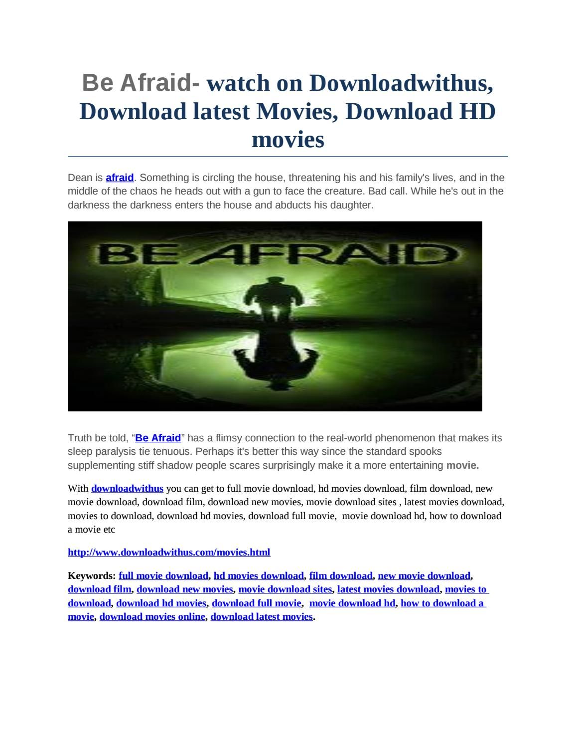 be afraid- watch on downloadwithus, download latest movies, download