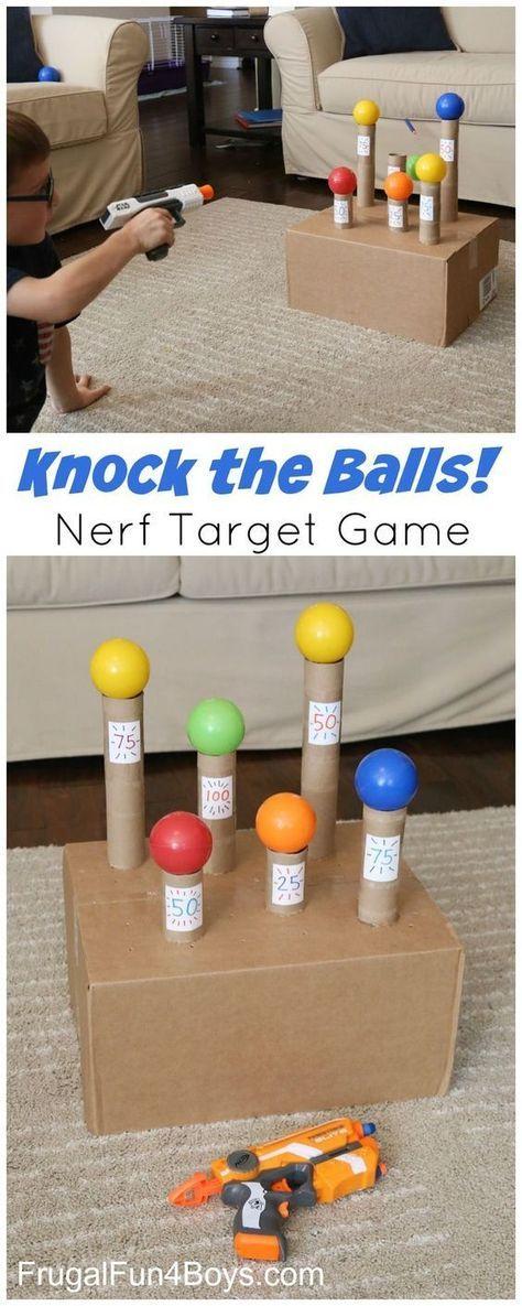 Photo of Knock the Balls Down Nerf Zielspiel – Super Langeweile Buster und eine lustige Party-ID …