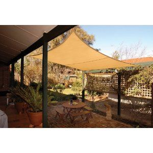 Sun Shade Sails   Maybe A Good Alternative To Traditional Patio Cover?