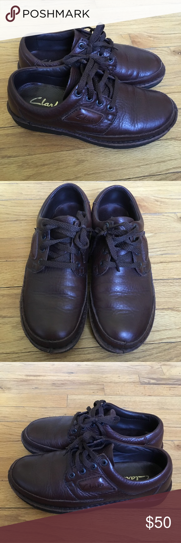 Clarks Natureveldt Men's Shoes Brown color. Size 9 1/2 Wide. With a