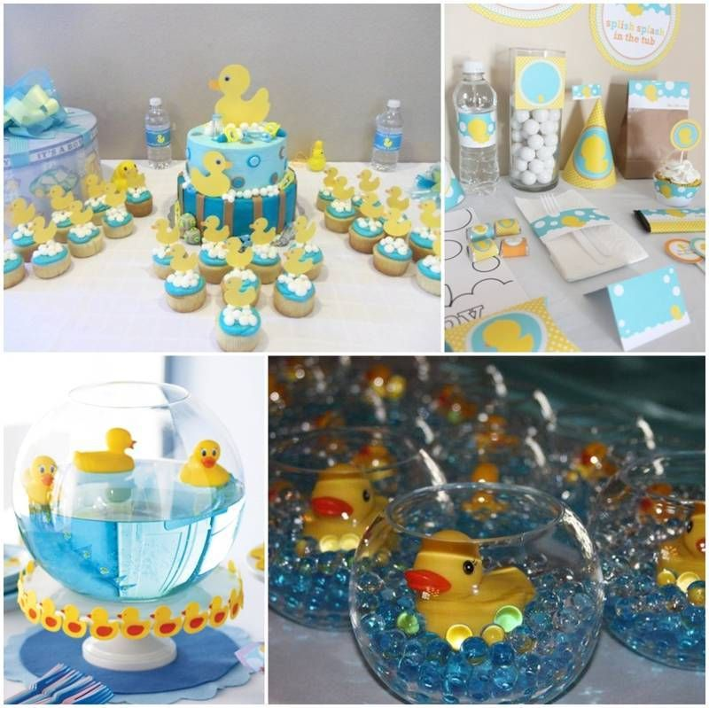 Decoracion de baby shower de patitos fiestas pinterest for Decoracion de adornos