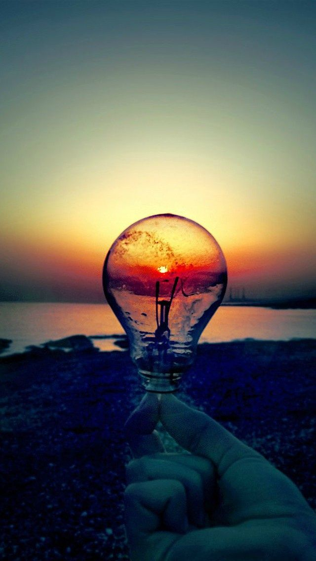 Light Bulb Wallpaper Iphone 5s wallpaper, Landscape art