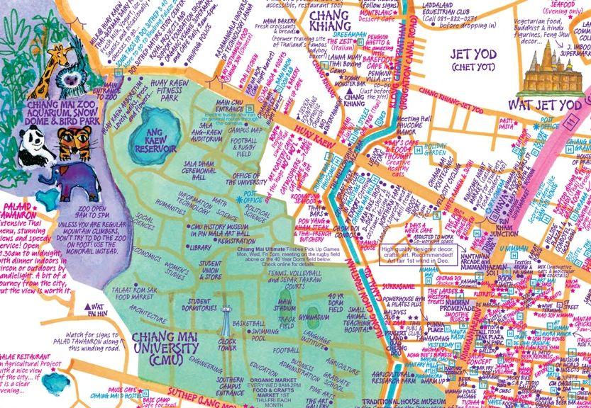 Chiang Mai Map PDF | Chiang Mai Thailand | Chiang Mai, Thailand ...
