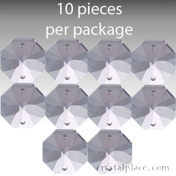 This clear octagon cut crystal is available in 14mm magnificent crystal garlandcrystal chainreplacement crystal chandelier parts swarovski aloadofball Choice Image