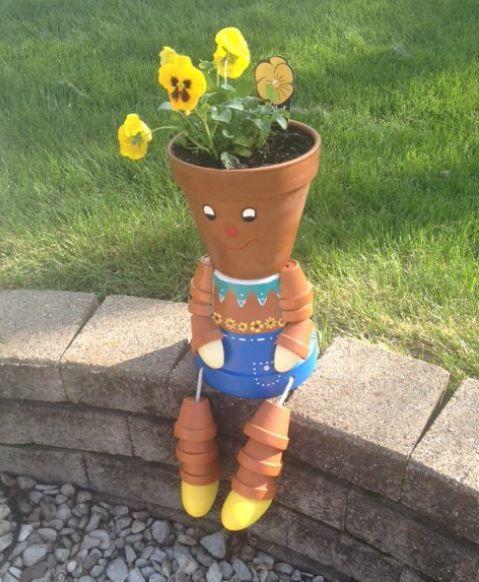 flower pot man - too cute! & Homepage | Creative Thinking | Flower pot people Flower pot crafts ...