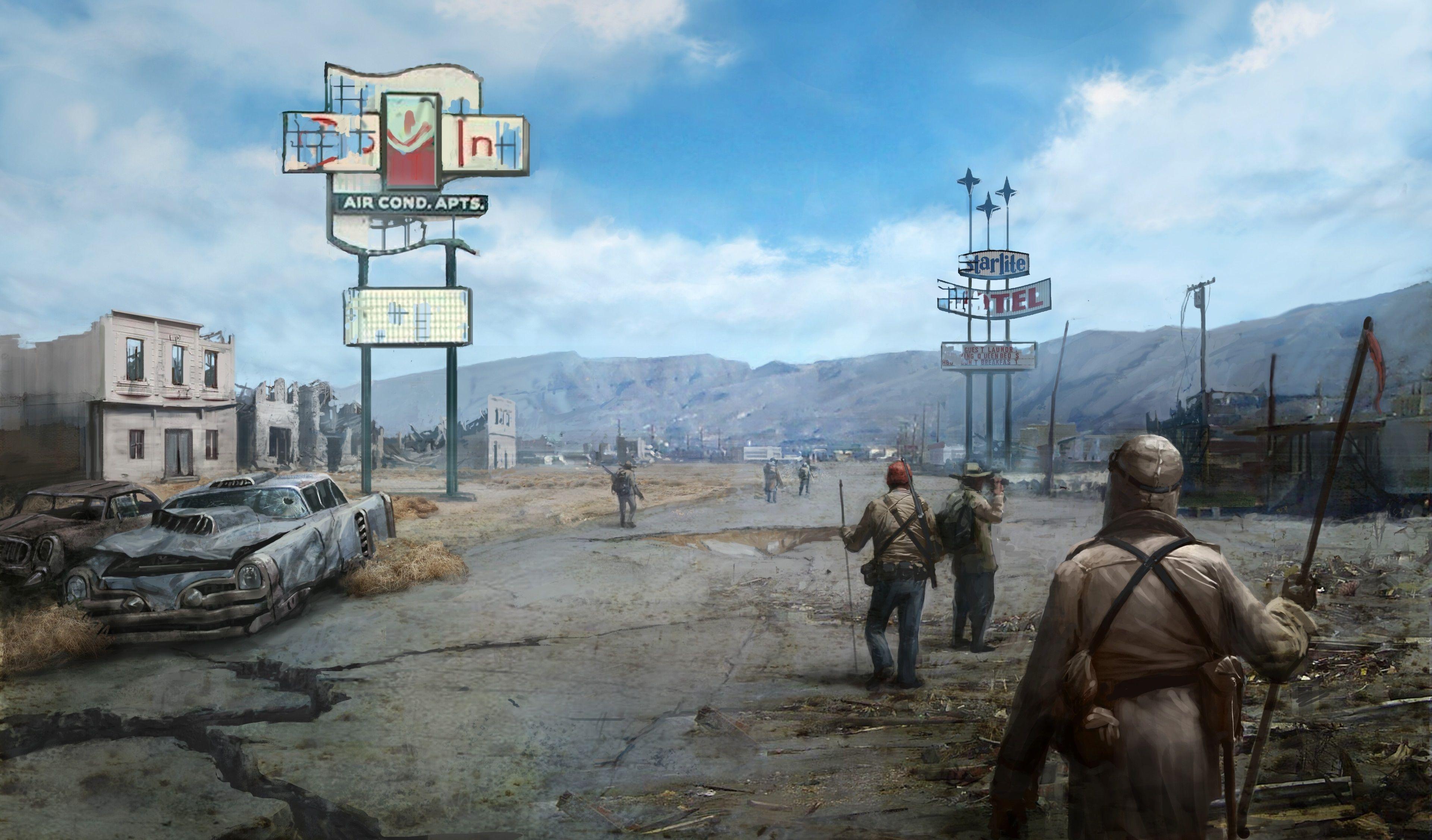 3840x2254 Fallout New Vegas 4k Wallpaper For Desktop Background Fallout New Vegas Fallout Concept Art Apocalyptic