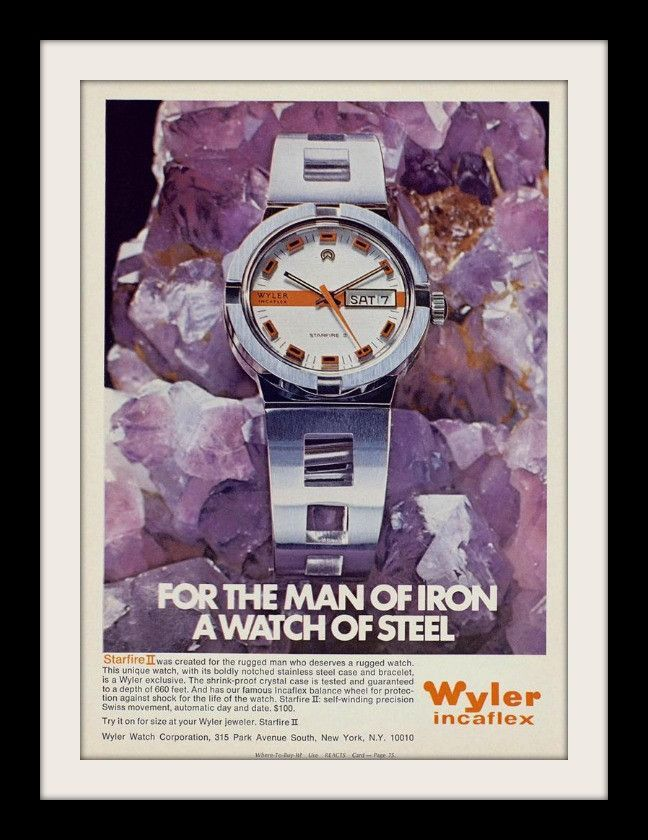 1971 Wyler Incaflex Starfire II Watch Ad
