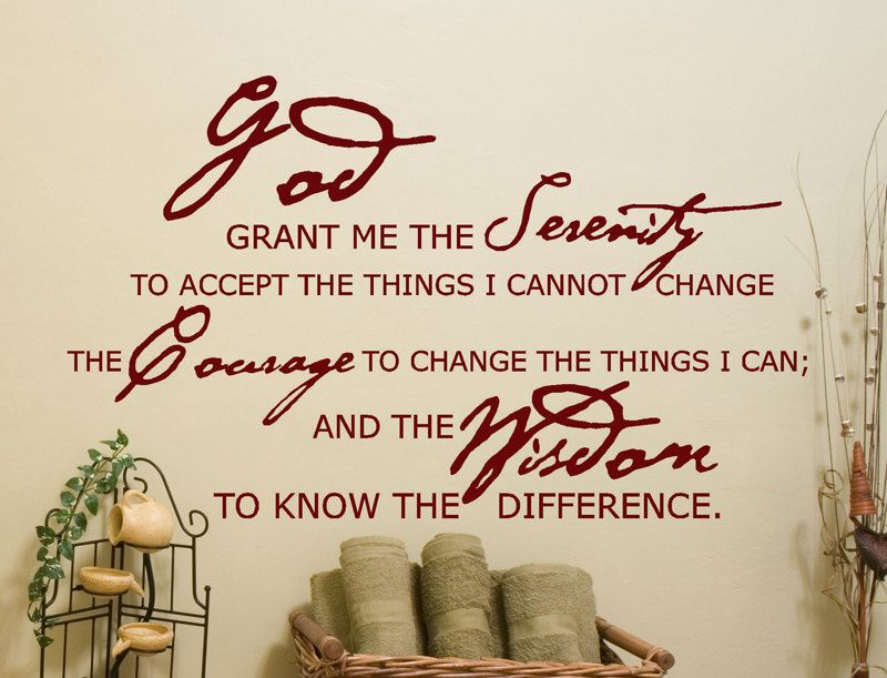 serenity prayer bible verse wall decor decal god grant me the serenity to accept the things