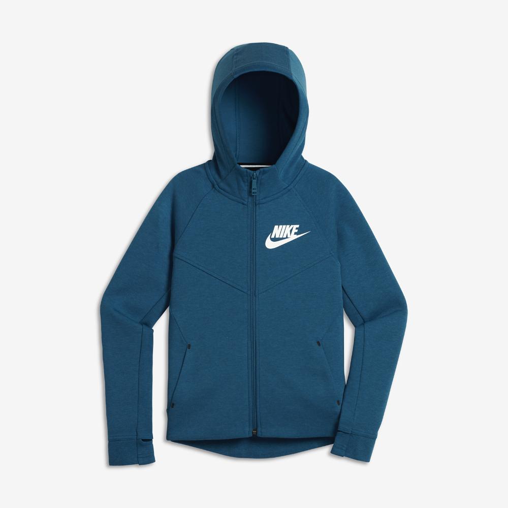 5b869befe0fb Nike Sportswear Tech Fleece Big Kids  (Girls ) Hoodie Size Medium (Blue) -  Clearance Sale