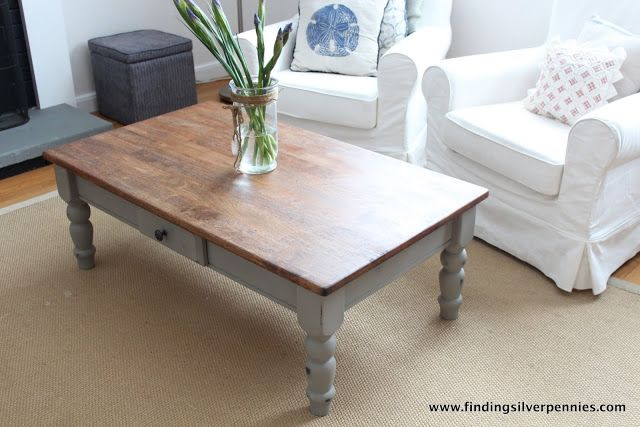 French Linen Coffee Table With Images Coffee Table Painted