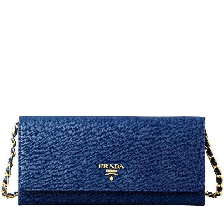 4c36cf8b881a Prada Saffiano Wallet on a Chain