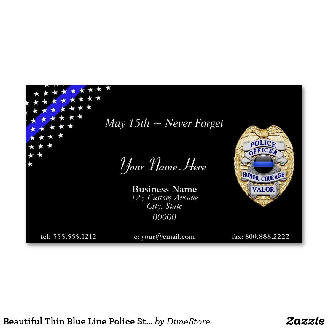 Beautiful Thin Blue Line Police Stars And Stripes Magnetic Business Card Zazzle Com In 2020 Magnetic Business Cards Colorful Business Card Cool Business Cards