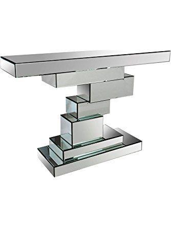 Abbyson Living Elsie Mirror Sofa Table Silver Abbyson Living Mirrored Sofa Table Mirrored Console Table Abbyson Living