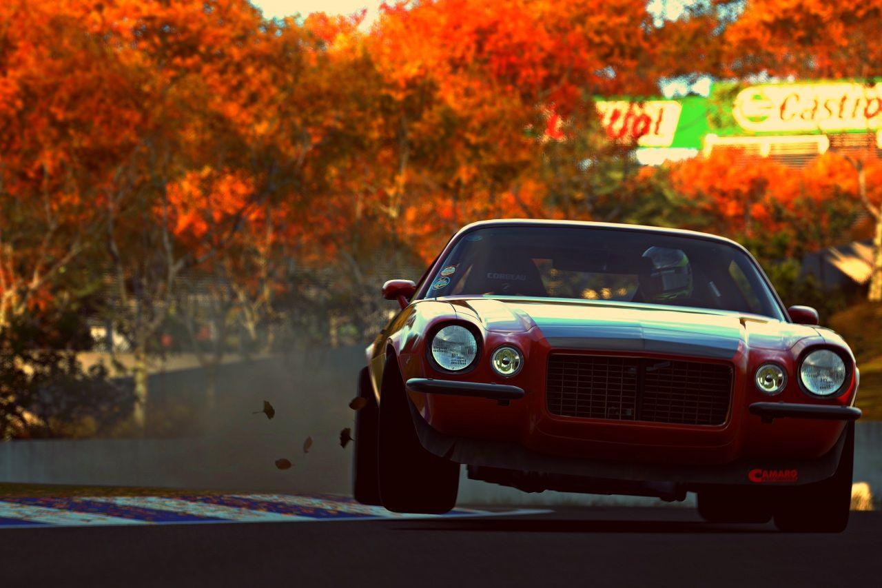gran turismo chevrolet otoño frente rojo pozzi motorsports camaro rs