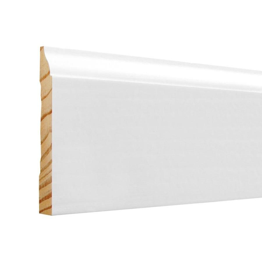 3 1 4 In X 8 Ft Painted Baseboard Moulding Actual 3 25 In X 8 Ft 623 8 Fjpwh In 2020 Painting Baseboards Baseboards Finger Joint