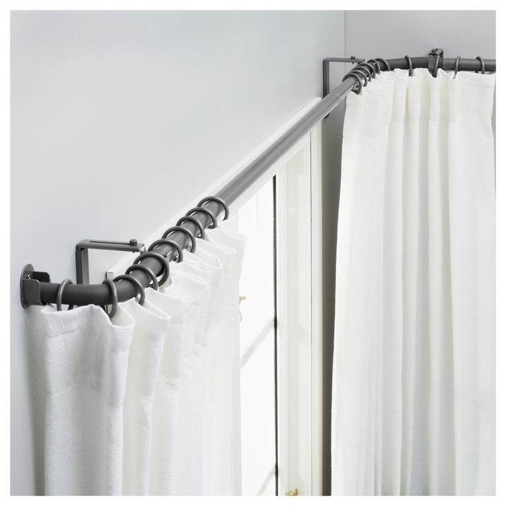 Adjustable Steel Swing Arm Curtain Rod Set Maybe Curtains