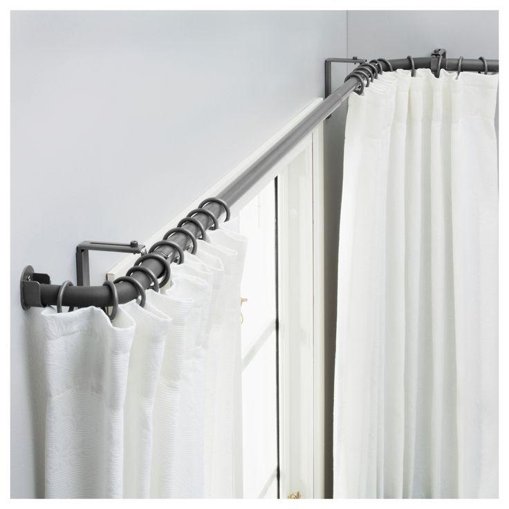 Adjustable Steel Swing Arm Curtain Rod Set Maybe Curtains Instead