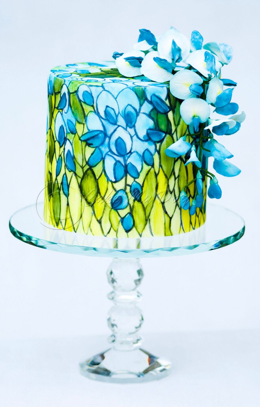 Stained glass cake by Cake My Day.