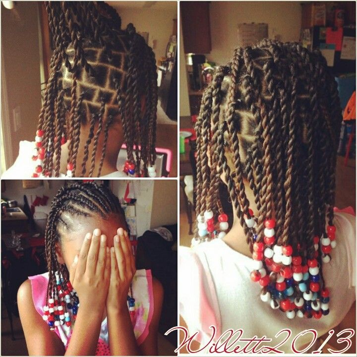 Twist And Beads Twists Twistouts En 2019 Hair Styles