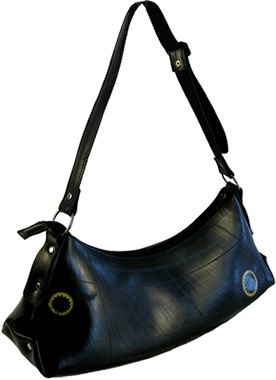 Recycled Tire Purse Besides Being A Fashionable Accessory That S Just The Right Size Our Afra Promotes Earth Friendly Practices