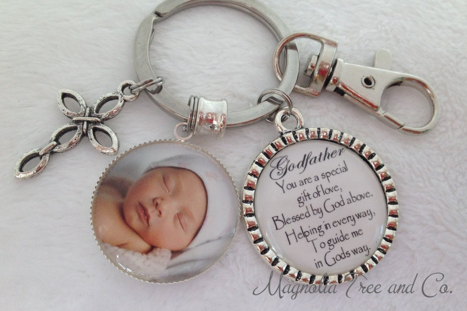 Godparent Keychain Gift For Godparents Gift For: GODFATHER Or GODMOTHER, Personalized Gift Godparents