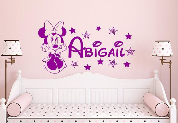 Minnie Mouse Personalized Name Wall Decal listing at //.etsy.com/listing/538433334/disney-decal-minnie-mouse-name-decal  sc 1 st  Pinterest & Minnie Mouse Personalized Name Wall Decal listing at https://www ...